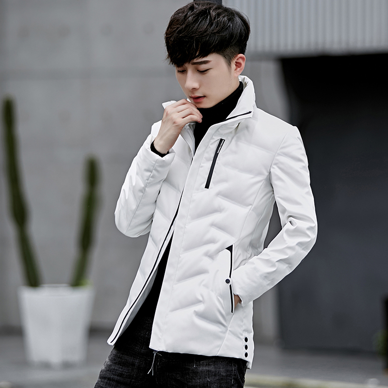 2019 New Winter Men White Duck Down Jacket Coat High Quality Thick Warm OUTERWEAR Overcoat