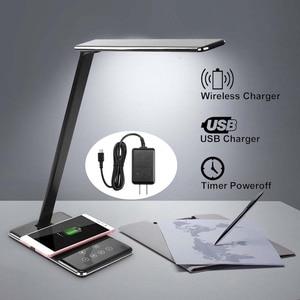 48LED Table Desk Lamp QI Wirel