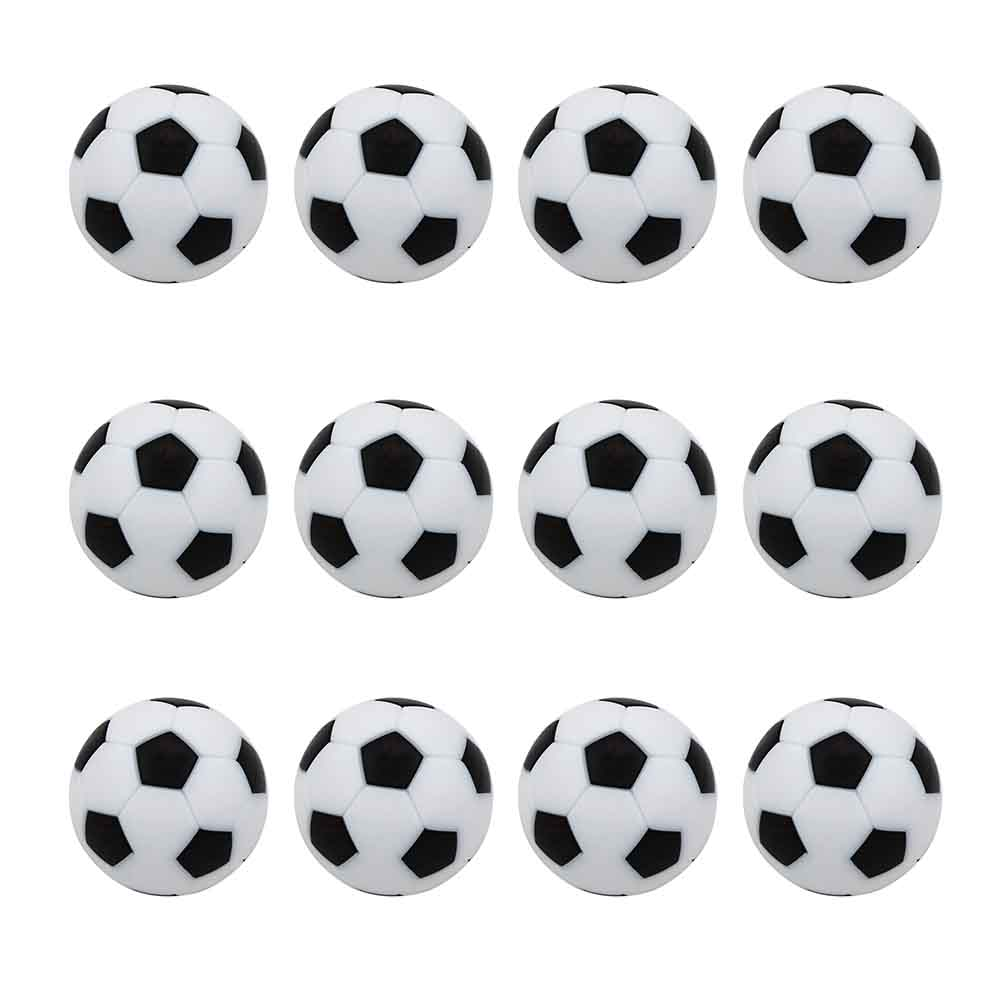 12pcs Round Activity Accessories Mini Soccer For Kids Indoor Game Entertainment Table Football Set Durable Replacement Ball ABS image