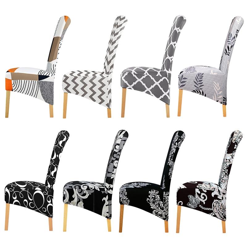 Xl boyutu avrupa tarzı uzun sırtlı sandalye kapak yemek sandalyesi sandalye sandalye kapakları kılıf koruyucu otel ziyafet için ev