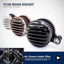 Мотоцикл воздухоочиститель Впускной фильтр системы алюминиевый для Harley-Davidson Sportster 883 1200 1991-2016 Железный 883 2009-2016