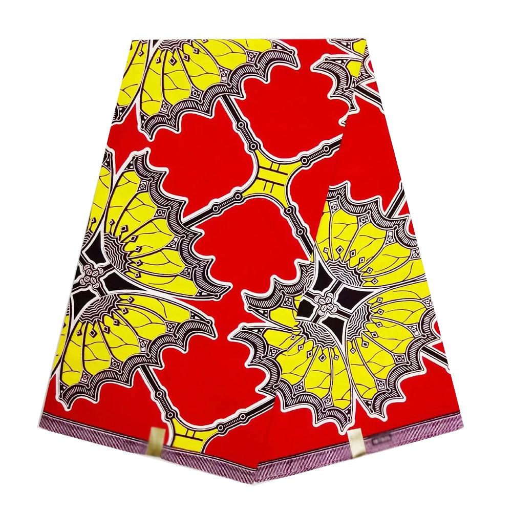 Veritable Wax High Quality Ankara Nigerian  African Real Dutch Wax Fabric 100% Cotton  Fabric Print Sewing Fabric For Women