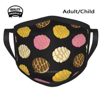 Black Latinx Concha Mexican Bread Pan Dulce Mouth Mask Face Masks Yellow Concha Pink Concha Chocolate Concha White Concha Pan image