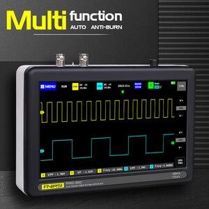 Image 2 - Ads1013d 2 canais 100mhz faixa largura 1gsa/s taxa de amostragem osciloscópio com 7 Polegada cores tft lcd tela de toque