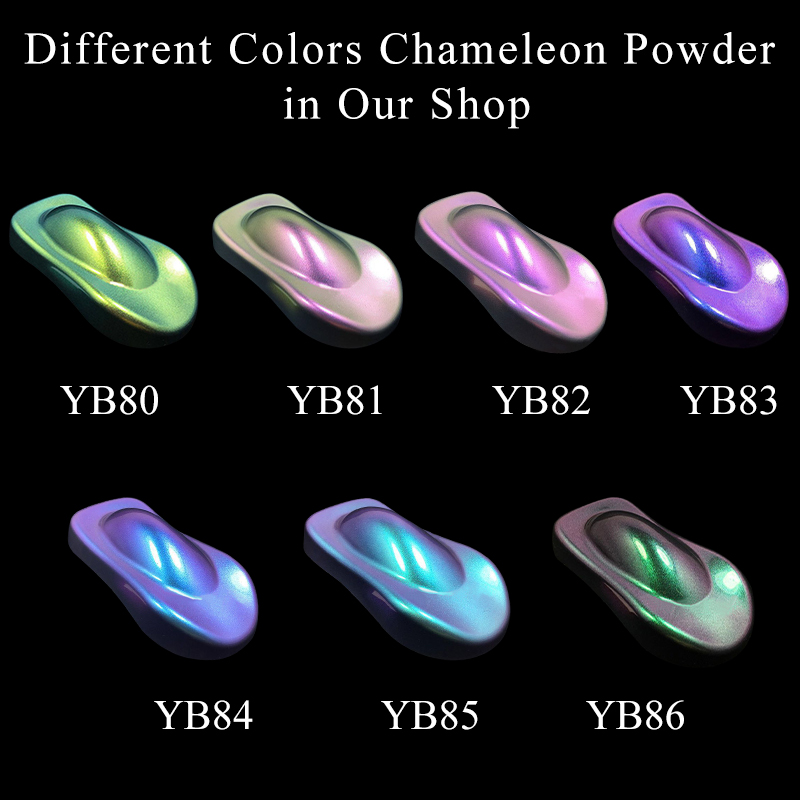 7 Packs Chameleon Pigment Powder Coating Acrylic Paint Chameleon Dye For Cars Automotive Craft Nail Decoration Painting 10g/pack