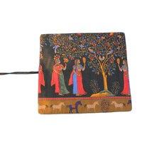 방수 캔버스 펜 15 인치 아티스트 페인트 브러쉬 케이스 롤 펜 홀더 (브러쉬없이 고대 이집트 스타일) 파우치 백