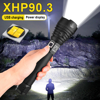 600000lm xhp90.3 most powerful led flashlight xhp70 usb rechargeable torch xhp50 hand lamp 26650 18650 flash light hunting image