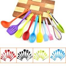 10Pc zestaw naczyń kuchennych silikonowe narzędzia kuchenne non stick zestaw przyborów do gotowania łopatka naczynia naczynie do gotowania akcesoria kuchenne