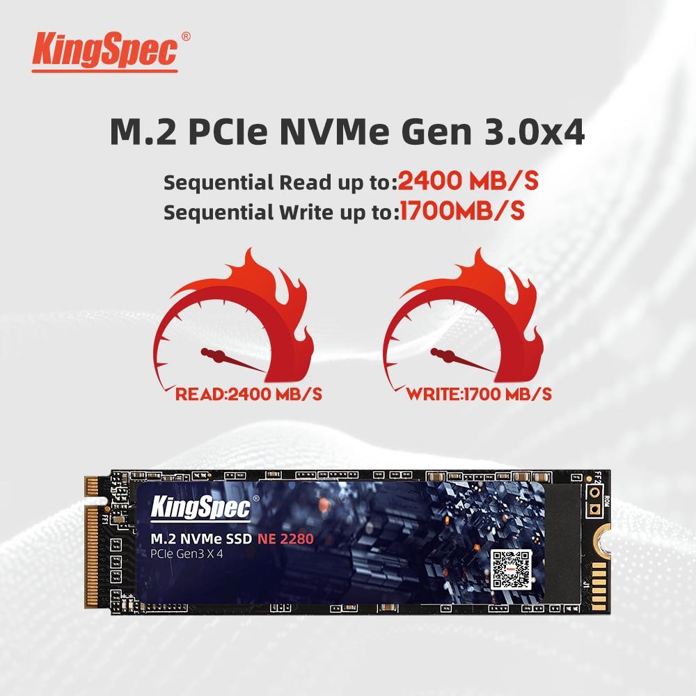 Kingspec M2 Ssd Nvme 256Gb 512Gb 1Tb 128Gb M.2 2280 Pcie Ssd Interne Solid State Drive voor Laptop Desktop Ssd Drive 2