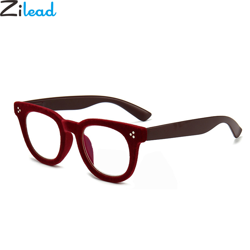 Zilead Soft Plush Anti Blue Light Reading Clear Lens Glasses Spectacles Presbyopia UV400 Hyperopia Eyeglasses Eyewear Unisex