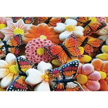 5D DIY Diamond Painted Butterfly Embedded Rhinestone Flower Pattern Embroidery Cross Home Decoration