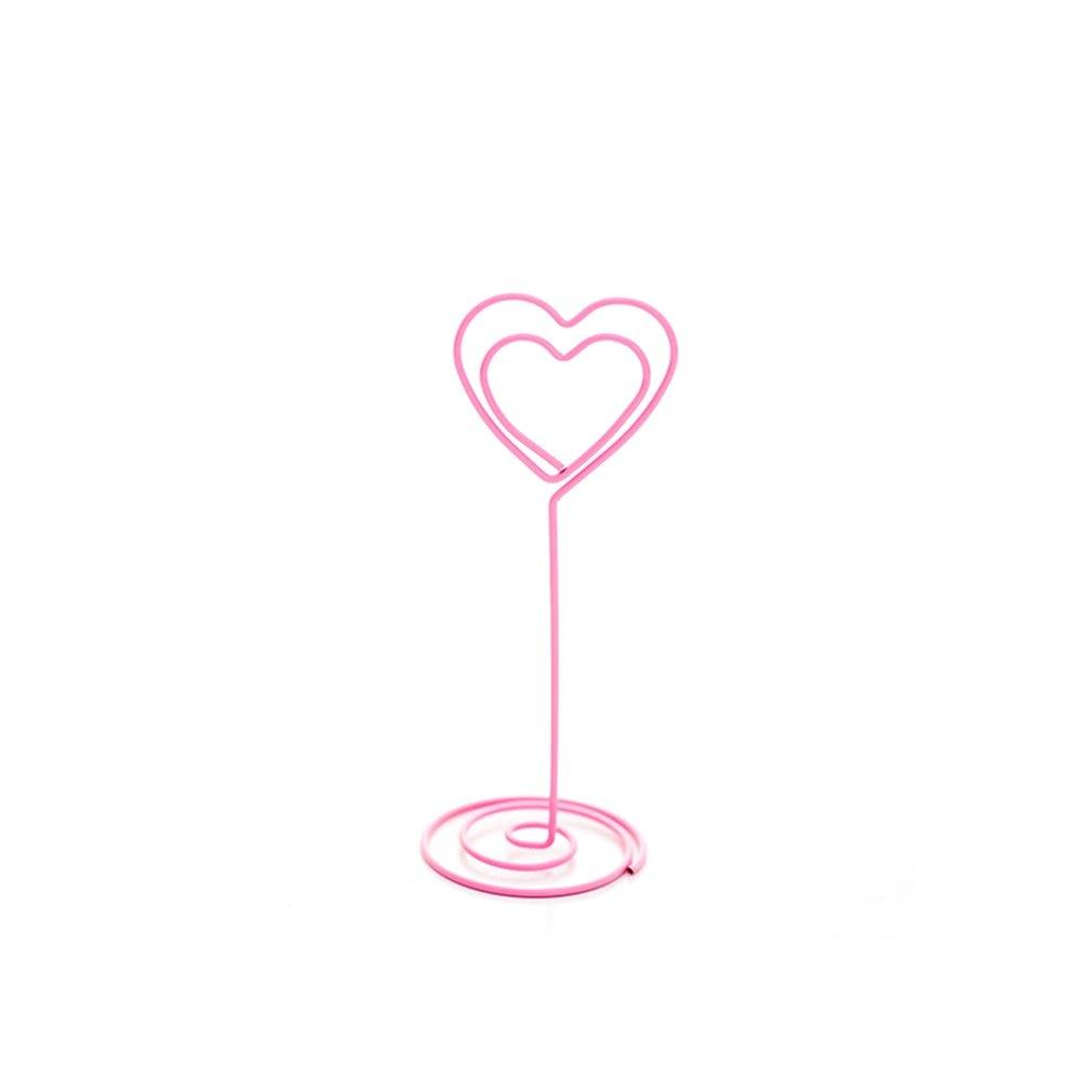 Japanese Cute Pink Girl Heart Metal Note Folder Office Desktop Message Note Clip Decoration Small Ornaments Flamingo Unicorn