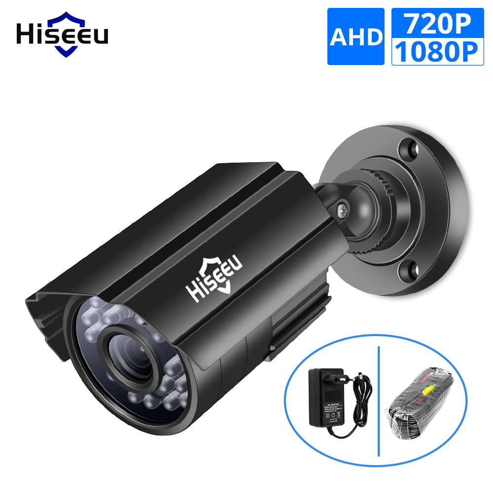 Hiseeu AHD Analog High Definition Video Surveillance Infrared Camera 720P 1080P AHD CCTV Camera Security Outdoor Bullet Cameras-in Surveillance Cameras from Security & Protection on Hiseeu Official Store