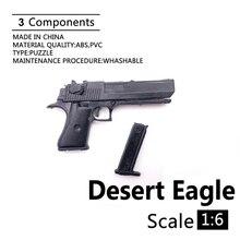 """1:6 Desert Eagle 4D Gun Modell Für 12 """"Action-figur Kunststoff Schwarz Soldat Waffe Zubehör"""