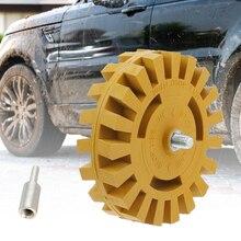 4 pollici 100mm gomma per auto ruota liscia trapano elettrico adattatore decalcomania rimozione vernice riparazione gomma efficace pratico gessato rapido