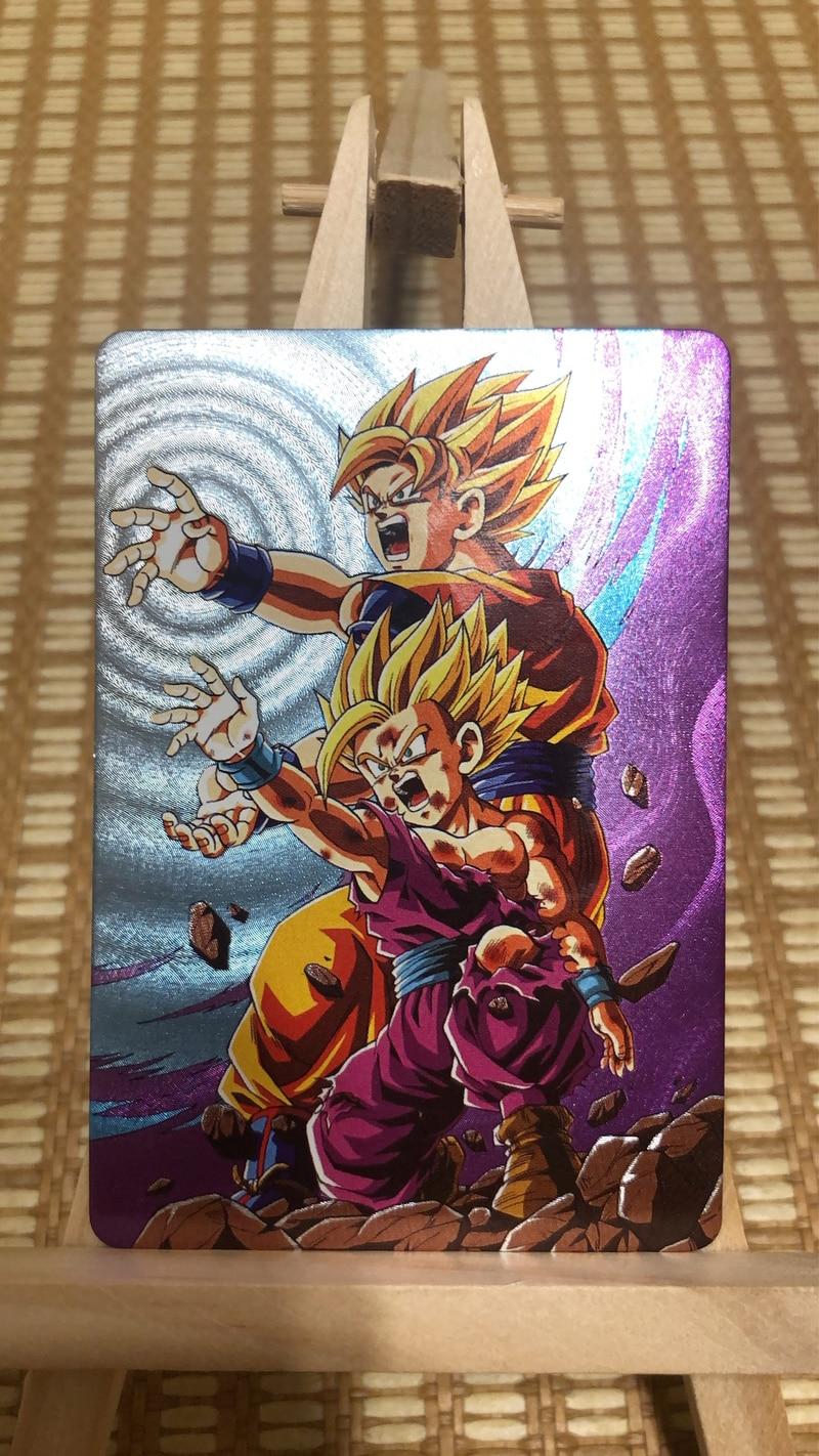 9pcs/set Dragon Ball Z Storm Clouds Collection Super Saiyan Goku Vegeta Game Collection Cards Toys Hobbies Free Shipping