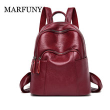 2019 Fashion Women Backpacks High Quality Leather Backpack Shoulder Bags Daypack for Women Female Rucksack Feminine Mochila