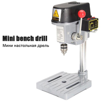 Electric Micro Drilling Machine 220V Industrial Grade Multi Function Cutting Saw Table Desktop Electric Drill Chuck 0.6-6.5mm