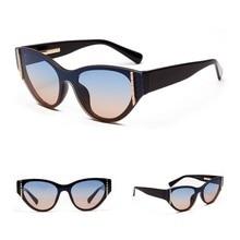 Fashion Brand Designer Vintage Flat Top Sunglasses