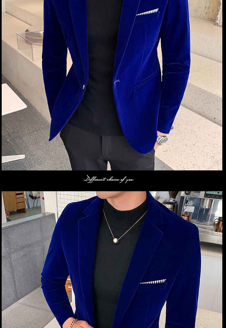 Hc8271b5d79874379ad77fc728a94f02fF - Autum Velvet Wedding Dress Coat Mens Blazer Jacket Fashion Casual Suit JacketStage DJ Men's Business Blazers Veste Costume Homme