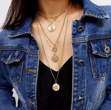 Fashion Beads Gold Choker Collares Necklace Women Vintage Silver Chain Long Statement Necklaces Gifts Jewelry Collier femme 2019 цена и фото