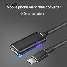 Kebidu usb type c vers hdmi câble adaptateur 4k 30hz USB 3.1 vers HDMI adaptateur mâle vers femelle convertisseur pour ordinateur PC écran TV