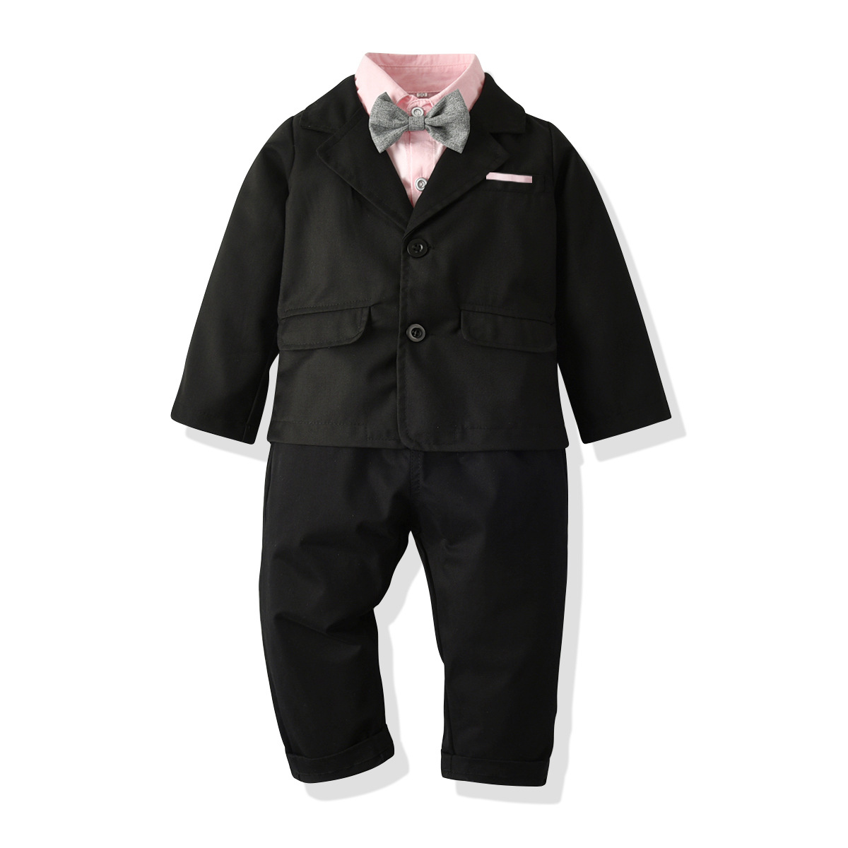 5 Pieces Sets Boy Child Costume for Baby Boys Child for Wedding Kid Blazers Shirt Shorts Suit Formal Party Wear Children Clothes