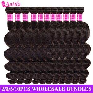 Свободные волнистые пряди, 100% человеческие волосы для наращивания, 2, 3, 4, 5, 10 пряди/упаковка, оптовая цена, бразильские свободные волнистые п...