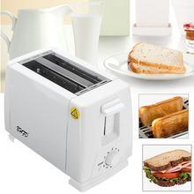 750W 2 ranuras de acero inoxidable tostadora eléctrica automática de pan Mini para hornear el desayuno del hogar máquina de pan herramienta de cocina