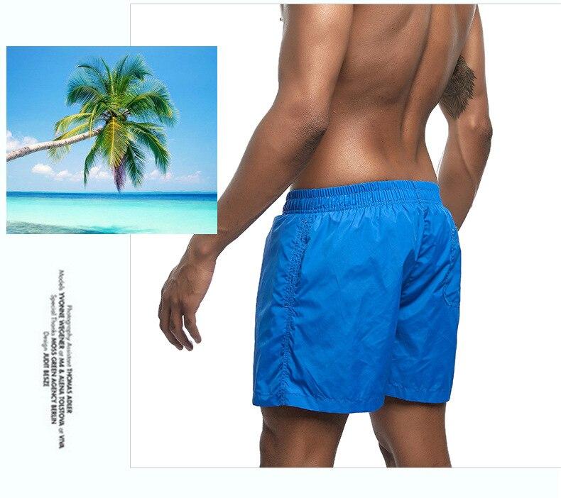 Homens calções de desporto calções de natação