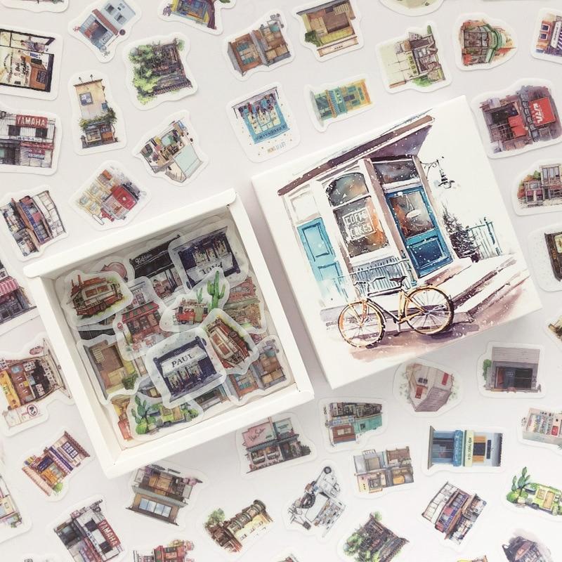 200 Pcs/pack Street Facing Gadgets Box Bullet Journal Decorative Stationery Stickers Scrapbooking DIY Diary Album Stick