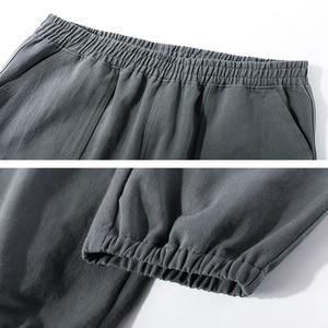 Image 5 - Pioneer Camp spodnie na co dzień mężczyźni luźna odzież uliczna 100% bawełna czarny szary Cargo spodnie dla mężczyzn AXX902322