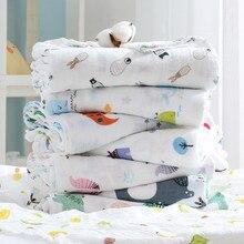 110x120cm Weichen Musselin Swaddle Baumwolle Baby Decke Neugeborenen Manta Swaddle Doppel Gaze Recien Nacido Muselina Lange bebe