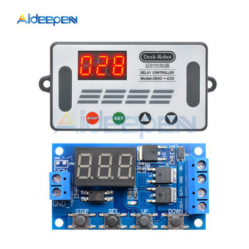 цена на DC 5V-30V Dual MOS Time Delay Relay High Level Trigger LED Digital Display Cycle Time Timer Delay Switch Circuit 12V 24V 0-999