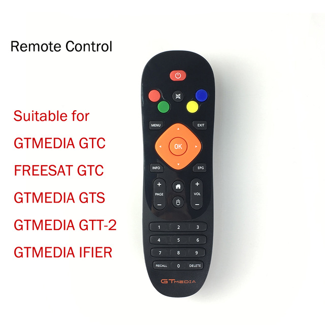 [Real] Remote Control For GTmedia GTC GTS G1 G2 G3 Ifire Android TV Box With DVB-T2 DVB-S2 DVB-C And ISDB-T Amlogic S905D Combo