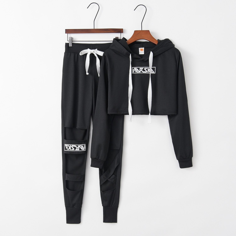 Striped Cute 2020 New Design Fashion Hot Sale Suit Set Women Tracksuit Two-piece Style Outfit Sweatshirt Sport Wear