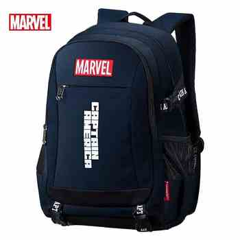 Disney Marvel backpack Captain America ironman children\'s primary school bag big capacity light waterproof bag for teenage boys