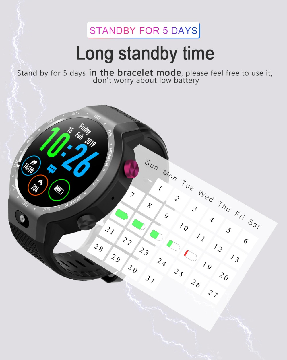 TORNTISC Z30 Dual Systems 4G Smart Watch phone Android 7.1 5MP Front Camera 600Mah Battery Support GPS WIFI Heart Rate Smartwatch PK LEM9 Presale (12)