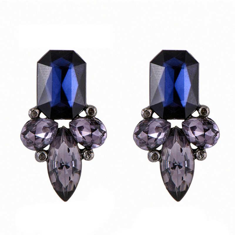 Pendientes CARTER LISA exquisitos grandes de cristal con brillantes de imitación para mujer, regalo de fiesta, joyería