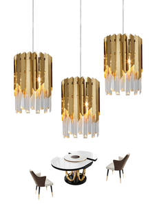 Chandeliers Led-Light Crystal Bedroom Kitchen Island Gold Small Modern Luxury Fixtures