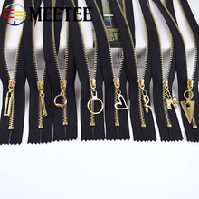 15/20/30cm Garment Zippers Meetee White Shoes Zip-Sewing-Accessory Black Close-End DIY
