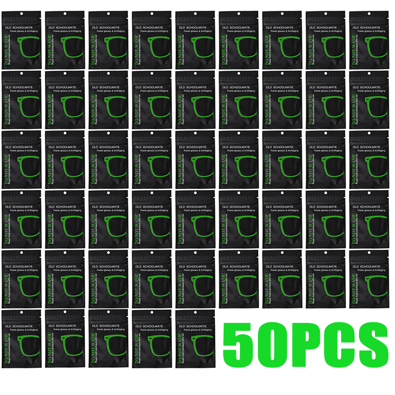 Многоразовые противотуманные салфетки для очков, салфетка для защиты линз от запотевания, 20/50 шт.