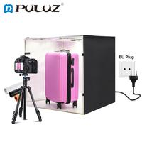 PULUZ 31.5*31.5*3.15in Photo Studio Softbox 80cm Photography Light Box Dimmable Shooting Tent Box Kit &3 Photography Backdrops