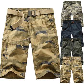 Camouflage tooling shorts men 2020 summer new mens casual loose work fashion trend military