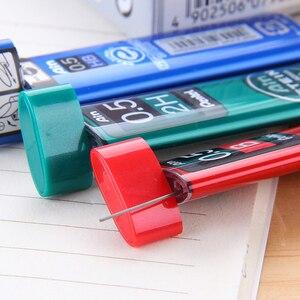 Image 3 - 7 أنابيب/مجموعة (40 قطعة/أنبوب) Pentel 0.5 مللي متر عبوات قلم رصاص ميكانيكية B,2B,3B,4B,H,2H, قلم رصاص HB يؤدي للمدرسة والمكتب القرطاسية