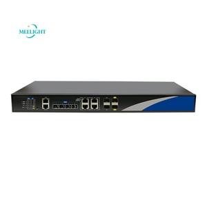 Image 1 - 10G Enhanced  4 PON intelligent network management switch OLT Dual power optical fiber equipment EPON compatible ONU