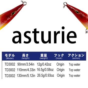 D1asturie Topwater  Long Cast High Quality Wobblers Pencil fishing Lure 90mm/110mm/130mm ArtificialCarp Fishing Bait