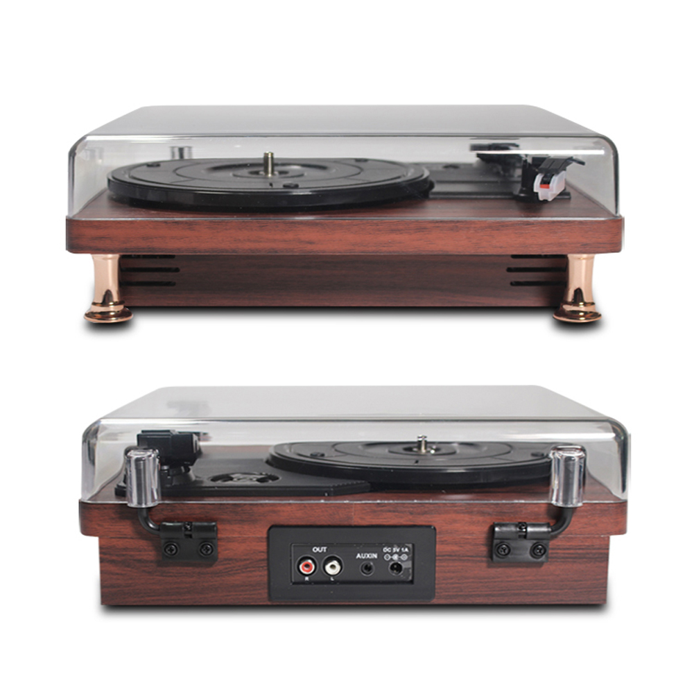 Hot Sale Newest Retro Vinyl Record Player Record Player with Dustproof Cover 33/45/78RPM