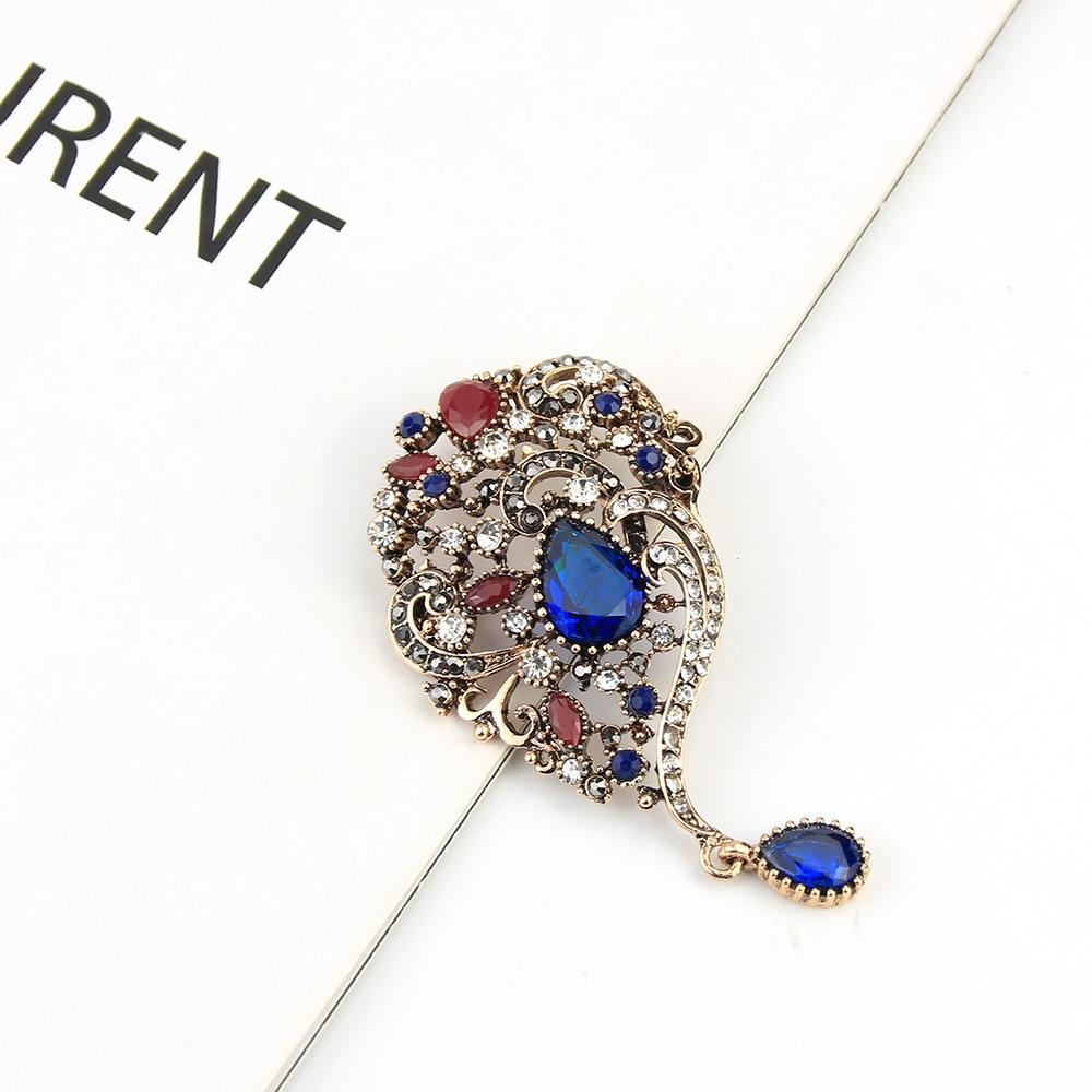 Sunspicems Vintage Turecki Broszka Spadek Wisiorek dla Kobiet Retro - Modna biżuteria - Zdjęcie 4