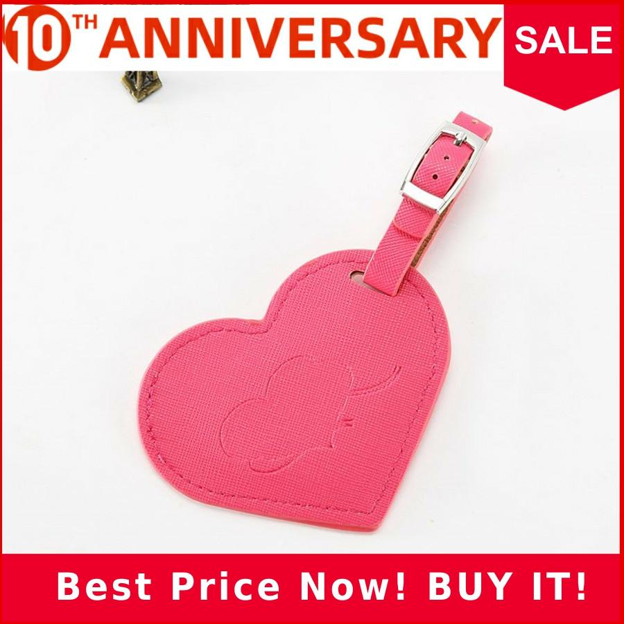 Heart Leather Suitcase Luggage Tag Label Bag Pendant Handbag Travel Accessories Name ID Address Tags LT14A
